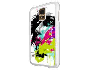 840 - Colorful face painting Design Samsung Galaxy S5 / SAMSUNG Galaxy S5 Neo Hard Plastic Case Back Cover - White