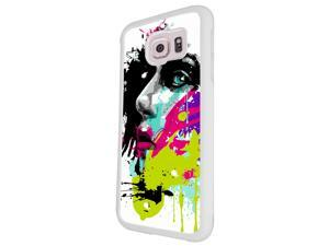 840 - Colorful face painting Design Samsung Galaxy A3-2015 Hard Plastic Case Back Cover - White