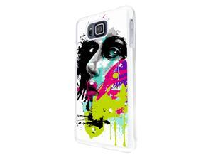 840 - Colorful face painting Design Samsung Galaxy ALPHA Hard Plastic Case Back Cover - White