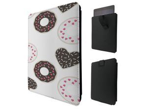 """ipad pro 12.9"""" / Macbook Air 11 / Macbook retina 12 Quality Pouch portefeuille Poche Coque  Case - Tab sortieC0907 - Cool Yummy Treats Junk Food Donut Rings Sprinkles And Hearts"""