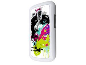 840 - Colorful face painting Design Samsung Galaxy S3 Mini Hard Plastic Case Back Cover - White