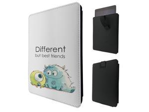 """ipad pro 12.9"""" / Macbook Air 11 / Macbook retina 12 Quality Pouch portefeuille Poche Coque  Case - Tab sortieC0038 - Cool Monsters Different But Best Friends"""