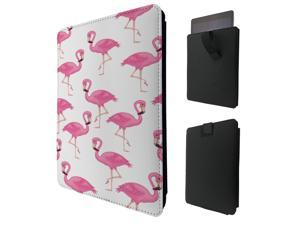 """ipad pro 12.9"""" / Macbook Air 11 / Macbook retina 12 Quality Pouch portefeuille Poche Coque  Case - Tab sortieC0291 - Cool Flamingo Doodle Collage Kawaii Pink Illustration Pink Birds"""