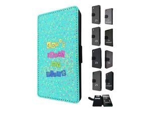 1062 - Don't Touch My Phone Design Sony Xperia M4 Aqua / Xperia M4 Flip Case Credit Card Holder Cover Book Style