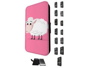 1159 - Sheep Animal Pinky Design Samsung Galaxy S3 Mini Flip Case Credit Card Holder Cover Book Style