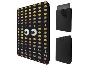 """ipad pro 12.9"""" / Macbook Air 11 / Macbook retina 12 Quality Pouch portefeuille Poche Coque  Case - Tab sortie626 - Cool Smiley Faces Emoji Funky"""