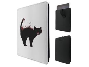 "ipad pro 12.9"" / Macbook Air 11 / Macbook retina 12 Quality Pouch portefeuille Poche Coque  Case - Tab sortieC0305 - Cool Black Cat Art"