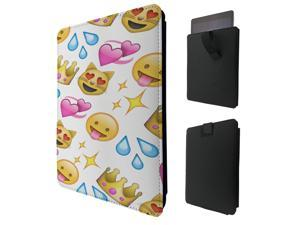 "Pour Tous Amazon Kindle Fire 8"" 10"" Kindle Fire HD 8"" 10"" HDX 8"" 10"" Quality Pouch portefeuille Poche Coque  Case - Tab sortieC0396 - Kawaii Colourful Emoji Apps EmotFacess Hearts Smiley Face (9)"