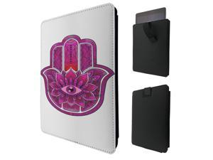 """ipad pro 12.9"""" / Macbook Air 11 / Macbook retina 12 Quality Pouch portefeuille Poche Coque  Case - Tab sortieC0881 - Cool Religious Protection Hot Pink Evil Eye Hamsa Hand"""