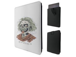 "ipad pro 12.9"" / Macbook Air 11 / Macbook retina 12 Quality Pouch portefeuille Poche Coque  Case - Tab sortieC0633 - Cool Albert Einstein Skull Zombie Nerd"
