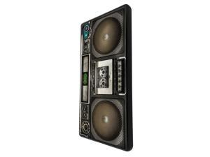 975 - boombox vintage retro music speakers dj cassette player tape Design For Sony Xperia M4 Aqua / Xperia M4 Hard Plastic Case Back Cover