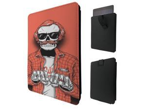 """ipad pro 12.9"""" / Macbook Air 11 / Macbook retina 12 Quality Pouch portefeuille Poche Coque  Case - Tab sortie1558 - Cool Trendy Hell Yeah Skull Biker Tattoo Cool"""