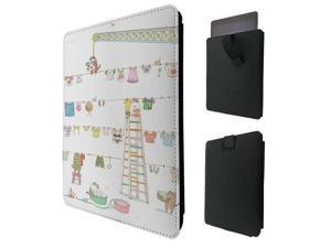 """ipad pro 12.9"""" / Macbook Air 11 / Macbook retina 12 Quality Pouch portefeuille Poche Coque  Case - Tab sortie942 - Cool Doodle Cat Kitten Pets Washing Playful Art"""