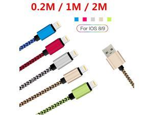 Uiiparts Lightning USB Cable, Nylon Braided Metal Heads iOS9 Sync Data Charger Cable for iPhone 5 5S SE 6 6S Plus