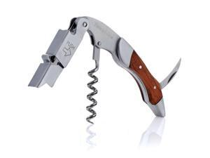 Barware Gear Premium Stainless Steel & Rosewood Wine Bottle Opener