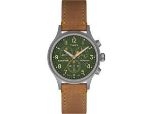 Timex Expedition Scout Chrono Tan Strap Green Dial Watch