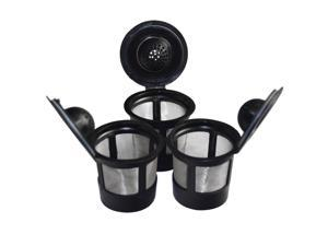 3pcs K-cup Stainless Steel Mesh Filter Reusable Coffee Pods Handy Gourmet