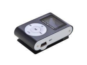 Black Mini MP3 Player Clip USB Radio LCD Screen Support for 32GB Micro SD
