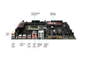 MSI MSI Gaming X99A GAMING 7 LGA 2011-v3 Intel X99 SATA 6Gb/s USB 3.1 USB 3.0 ATX Intel Motherboard