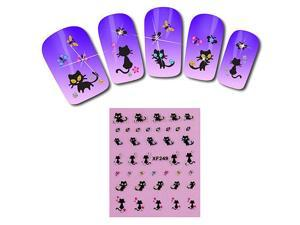 5pcs × Nail Art Stickers Water Transfer Stickers Butterfly Decal DIY Decoration