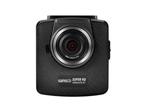 ULTRA HD Dashcam, SANSCO® In-Car Black Box Camcorder (5MP, 150-Degree Wide Angle Lens With IR Filter, 2304*1296 Pixel, 2.4 Inch LCD Color Display, Emergency Recording, Support Up To 32GB TF Card)
