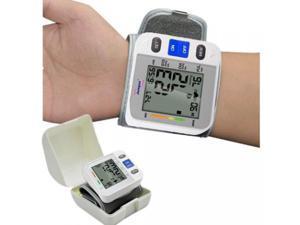 Fully-auto Pocket Blood Pressure Monitor Wrist Cuff Hypertension Jumper JPD-900W Wrist Cuff Blood Pressure Monitor Meter 90 Memory Recall Sphygmomanometer Gauge