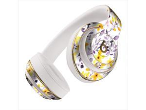Yellow and Purple Wildflowers Skin for Apple Beats By Dre Studio 2013+ Models Headphones