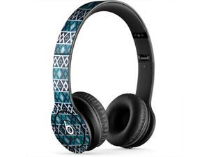 Blue and Teal Diamond Pattern Skin for Apple Beats By Dre Studio Headphones Sticker