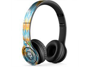 Blue and Orange Aster Skin for Apple Beats By Dre Studio Original Headphones