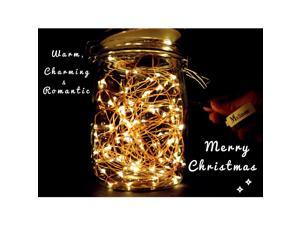 Mxsaver Fairy LED Copper Wire String Lights(Warm White, 32.8ft, 100 Leds, Waterproof, Updated)