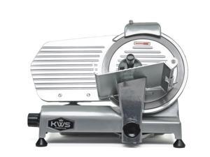 "KWS Premium Commercial 320w Electric Meat Slicer 10"" Stainless Blade, Frozen Meat/ Cheese/ Food Slicer Low Noises Commercial and Home Use"
