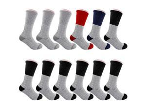 12 Pairs Men Winter Warm Boot Socks Thermal Socks Fits Size 10-15 Assorted Colors
