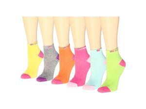 12 Pairs Women's Socks Assorted Colors Size 9-11 USA