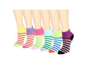 12 Pairs Women's Socks Assorted Colors Size 9-11 Striped