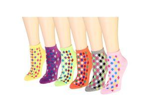 12 Pairs Women's Socks Assorted Colors Size 9-11 Diamond