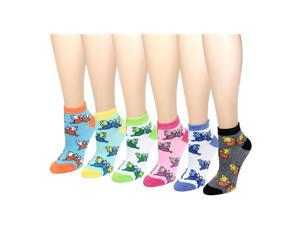 12 Pack Women's Ankle Socks Assorted Colors Size 9-11 Butterfly