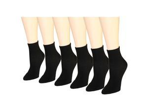 12 Pairs Women's Socks Assorted Colors Size 9-11 (Black)