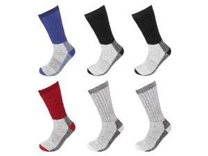 6 Pairs Wool Socks Excellent for Cold Weather Temp 5-25° Assorted Colors
