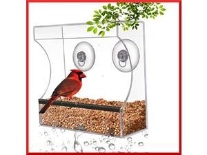 Planted Perfect Crystal Clear Window Suction Bird Feeder