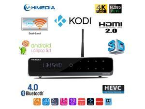 """Himedia Q10 Pro 4k (Ultra HD)3d Media Player with FLIPPING 3.5"""" HDD Enclosure (HDD Bay), Android 5.1 Smart TV Box Mini PC 2GB/16GB Bluetooth 4.0 Dual Band WiFi Home Theater Player(ship from Canada)"""