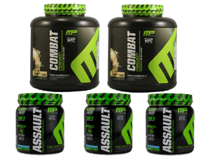 5-Pack MusclePharm Workout Bundle (2 x 5 Lbs + 3 x 30 Servings)