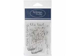 Technique Tuesday GSBOO Clear Stamps 3 x 4 in. - Bootiful Tulips
