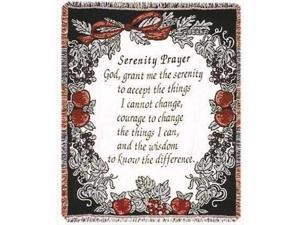 Simply Home 106169 Throw Serenity Prayer Tapestry 50 x 60
