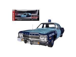 Autoworld AMM1023 1974 Dodge Monaco Pursuit Massachusetts State Police 1-18 Limited to 2000 Piece