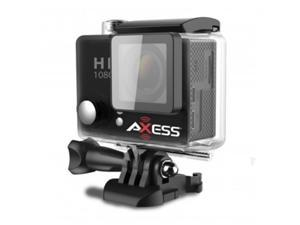 Axess CS3604-BK Full HD 1080h.264 Waterproof Action Camera, Black