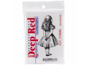 Deep Red Stamps 3X404400 Deep Red Cling Stamp 1.6''X3.1''-Alice Standing