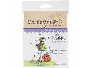 Stamping Bella EB323 Cling Stamp 6.5 x 4.5 in. - Tiny Townie Fay Loves Fall