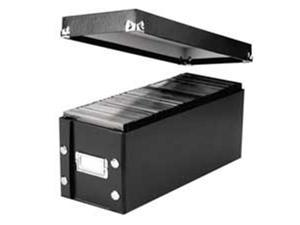 Ideastream Products IDESNS01521 Snap-N-Store CD Storage Box- 30 CD Cap- 5-.25x14x5-.75in.- Black