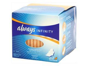 Always 14 Count Infinity Unscented Pads With Wings, Overnight - Pack Of 12