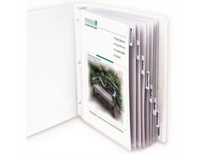 C-Line 05587BNDL3ST Sheet Protectors w/Eight Clear Index Tabs & Inserts- Heavy Wt- Letter